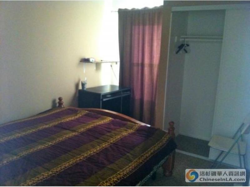奇诺Chino 近邻Chino Hills 一房一卫 招女房客  即可拎包入住