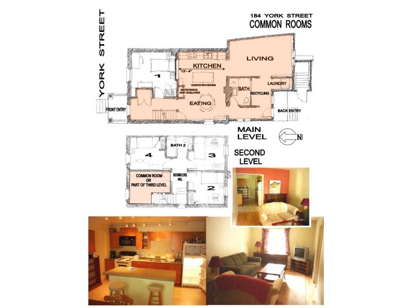 出租Queen's大学附近学生公寓一间,安静便捷,月租500加币